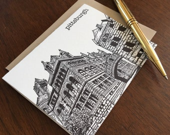 Allegheny County Courthouse - Pittsburgh City Series Letterpress Note Card