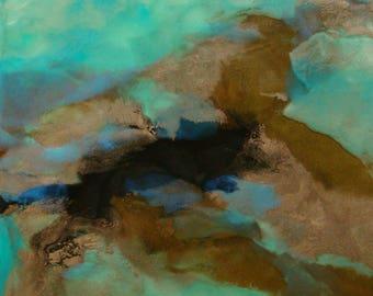 Original Fine Art Encaustic Painting - Abstract - Landscape