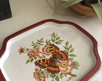 Vintage Butterfly Metal Mini Tray