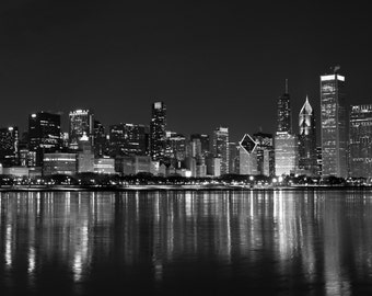 Chicago Skyline on Valentine's Day Photograph