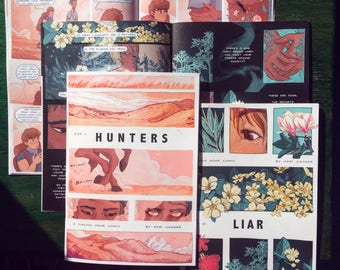 Hunters/Liar comic - award winning short romance comic