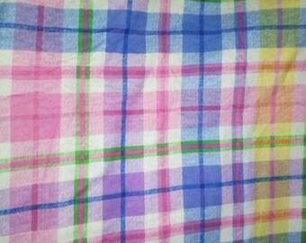 Multi Colored Plaid Flannel Fabric