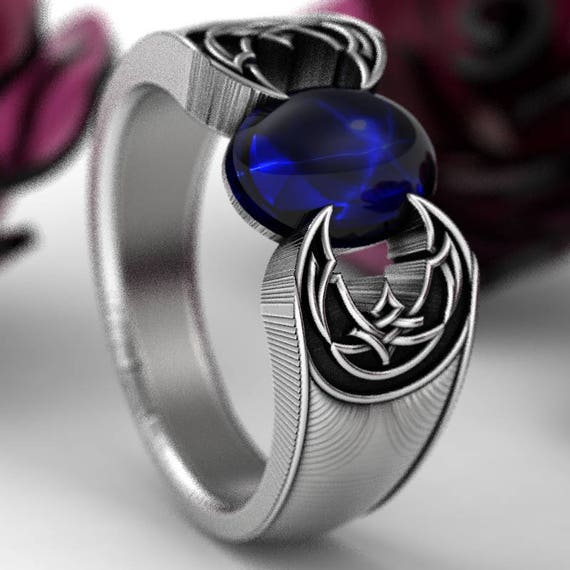 RESERVED FOR Zon Celtic Star Sapphire Celtic Knot Band Ring Design in Sterling Silver, Custom Ring Design Made in Your Size 1202