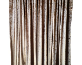 Gold Velvet Curtain Panel 144 inch Long For Extra Tall Ceiling, Custom & Ready Made Drapes/Drapery w/Rod Pocket Top Theatrical Regency Decor