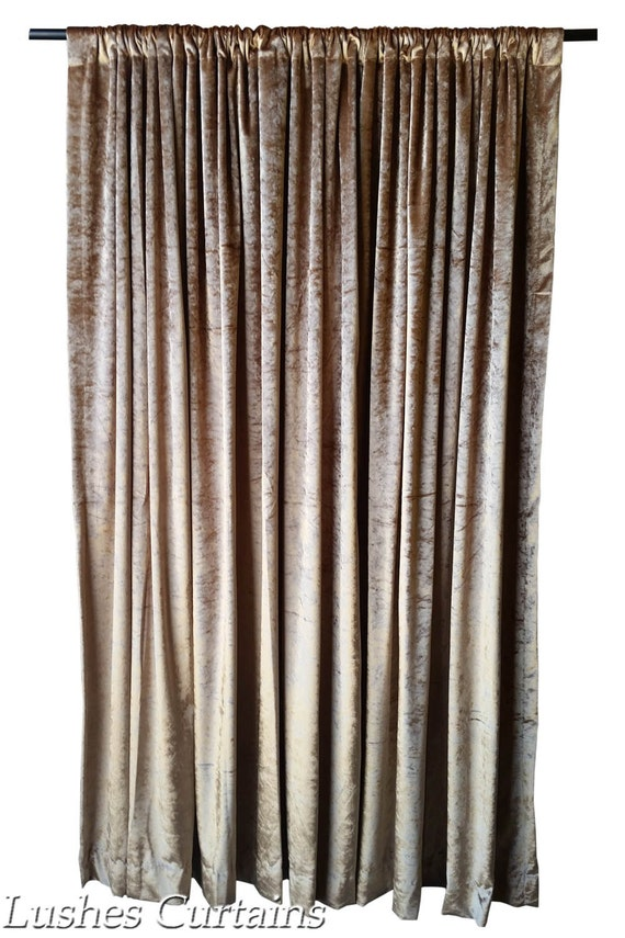 pair of curtain il brown zoom fullxfull panels gold listing silk curtains