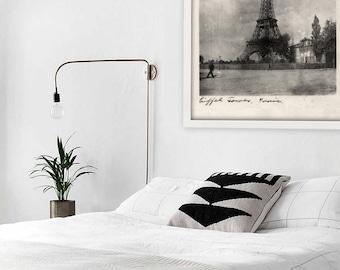 Antique Paris Photo Print / Eiffel Tower Art / French Photo / Paris Wall Art / Digital Instant Download / French Decor /  Paris Art Print