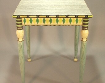 Hand Carved Accent Table - 'Lily Belle'