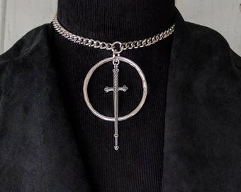 Mini Telum 2.0 - Choker - Sword - Necklace - Dagger - Dark - Witchy - Goth - Gothic - Black Metal - Occult - Gift - Jewelry - Tarot - Unique