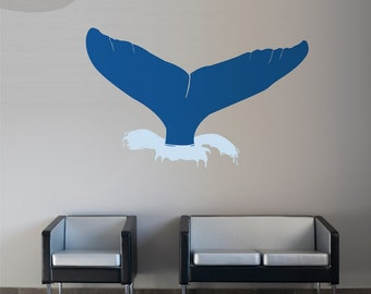 Whale Of A Tail - Wall Vinyl Decal