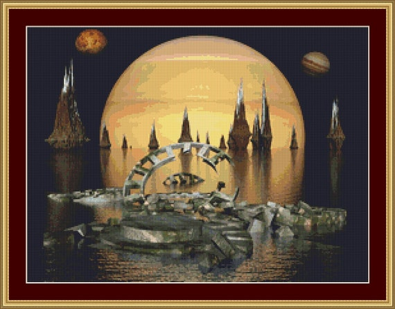 An Alien World Cross Stitch Pattern /Digital PDF Files /Instant downloadable