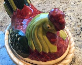 Vintage Hen or Chicken on Basket