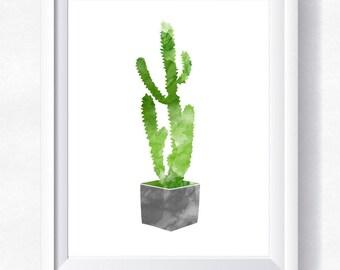 Cactus print Cactus printable Cactus watercolor Cactus wall art Cactus printable Botanical poster Cacti print Cactus poster Cactus download