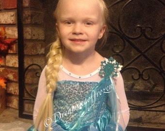 IN STOCK!! Blue Rhinestone Hand Embellished Princess Elsa inspired Dress, Elsa Costume - Snowflake Dress - Queen Elsa costume-70125