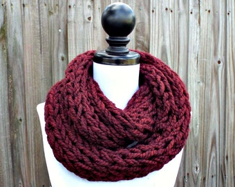 Instant Download Knitting PATTERN - Infinity Scarf Knitting Pattern - Polar Infinity Scarf Chunky Scarf Womens Accessories