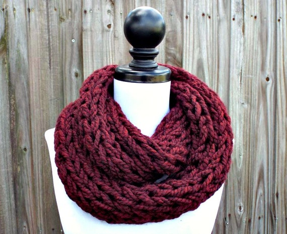 Knitting Scarf Patterns Infinity Scarf : Instant download knitting pattern infinity scarf
