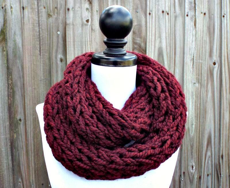 Chunky Infinity Scarf Chunky Knit Home Design Ideas
