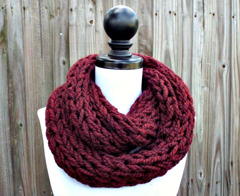 Instant Download Knitting PATTERN - Infinity Scarf Knitting Pattern ...