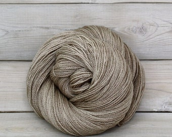 Starbright - Hand Dyed Bluefaced Leicester Silk Heavy Lace Light Fingering Yarn - Colorway: Oatmeal