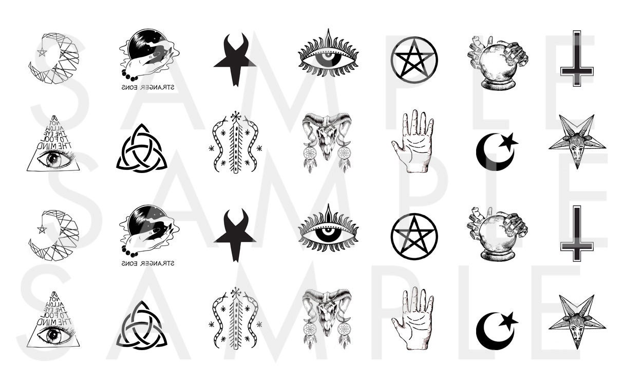 Occult nail decals symbols nail decal witch nail decal magic 599 buycottarizona Image collections