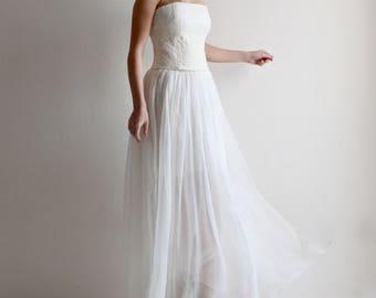 Wedding skirt, wedding separates, wedding dress, beach wedding skirt, bridal skirt, sheer wedding skirt, chiffon skirt, silk skirt