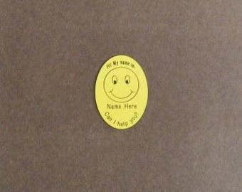 Custom Made Oval Smiley Face Badges *
