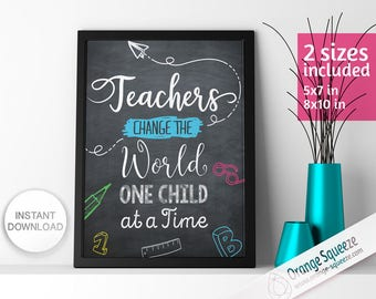 Teacher gifts, Teacher's day gift, Quotes Wall Art, Instant Download, DIY PRINT, Teacher Appreciation gift, Teacher Day Gift, Teacher quotes