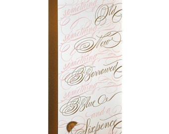 Letterpressed Sixpence Wedding Greeting Card