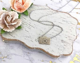 Silver Camera Dainty Necklace