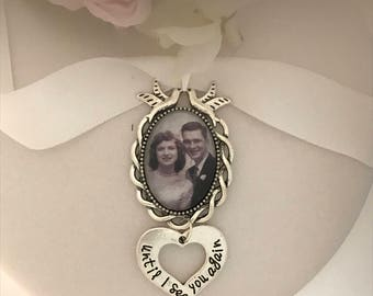 Wedding bouquet remembrance charm, bouquet charm. I will do your photo
