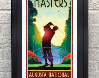 Masters Golf art golf gift sports poster print painting