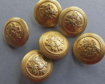 Gold - two Lions Crest pins - Vintage-