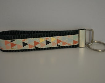 Colorful Triangles Key Fob