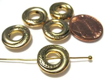 10pcs Antique Gold Metal Bead Frames