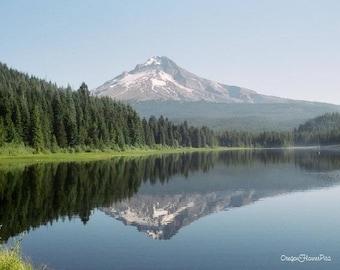 Trillim Lake Mt. Hood reflection photo print