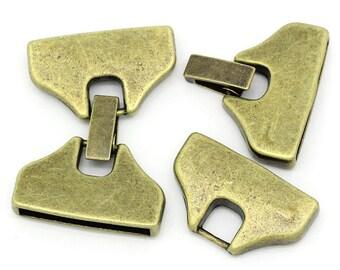 Clip clasp, bronze, 3, 9cm long x 2.5 cm wide