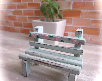 Miniature bench - scale 1:12-Dollhouse miniatures