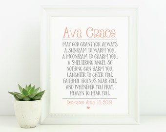 Bible verse wall art etsy baptism gift bible verse wall art baby girl gift scripture wall art personalized negle Images