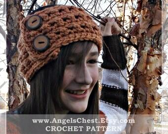CROCHET PATTERN PDF Crocheted Headband Earwarmer Neckwarmer Preteen to Adult sizes Boutique Design - No. 46 by AngelsChest