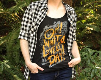 Mad Max Shirt Fury Road tank top | Oh What A Lovely Day Mad Max Tank Top | Mad Max Tanktop | Hand Screen Printed | Available in Plus Sizes