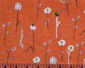 Heather Ross  Far Far Away 3 Collection - Wildflowers Orange 1 FAT QUARTER