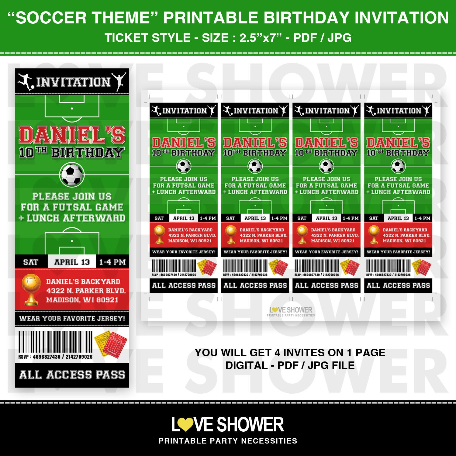 Excellent Soccer Party Invitation Template Images - Entry Level ...