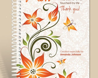 Thanks Mom / Personalized Notebook / Prayer Journal