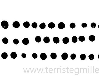 Thermofax Screen - Finger Paint Dots