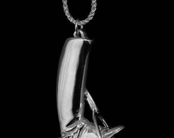 Equestrian Boot in Stirrup Necklace, equestrian necklace, equestrian pendant, equestrian jewelry, horse jewelry, horse necklace,