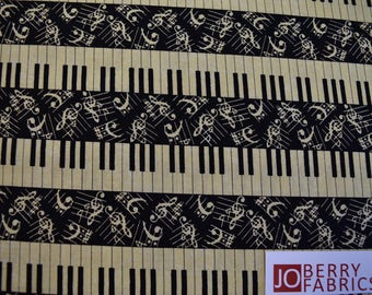 Piano Keys from the Symphony Suite Collection by Blank Quilting.  Quilt or Craft Fabric, Fabric by the Yard.