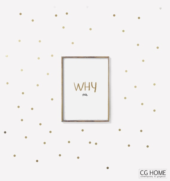 Small Gold DOTS wall decals Tiny Stickers For Children Baby Room Decals Kids Toddlers Small Polka Dots Pattern Nursery Scandinavian Home