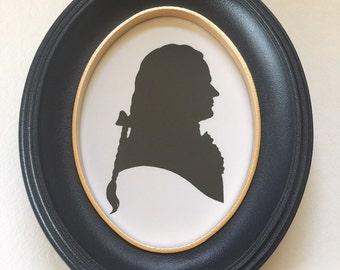 FRAMED Alexander Hamilton Hand Cut Silhouette