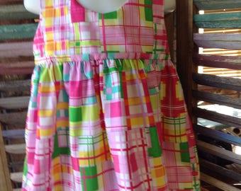Girls sundress, Size 2T, girls summer dress, 100% cotton girls dress, Boho girl dress, Girls Easter dress, #317