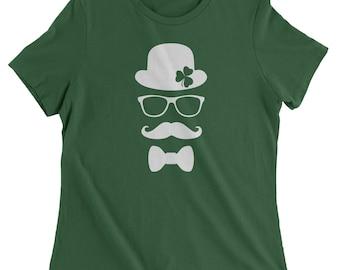 Derby, Mustache and Shamrock Womens T-shirt