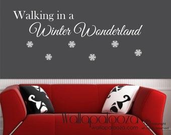Walking In A Winter Wonderland Wall Decal - Christmas Wall Art - Winter Wall art